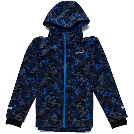 Fotografie Dětská chlapecká softshellová bunda s fleecem Wolf B2766 modrá 134/140