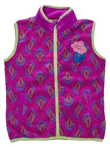 Dětská dívčí fleecová vesta Wolf B2793 fialová, vel. 110