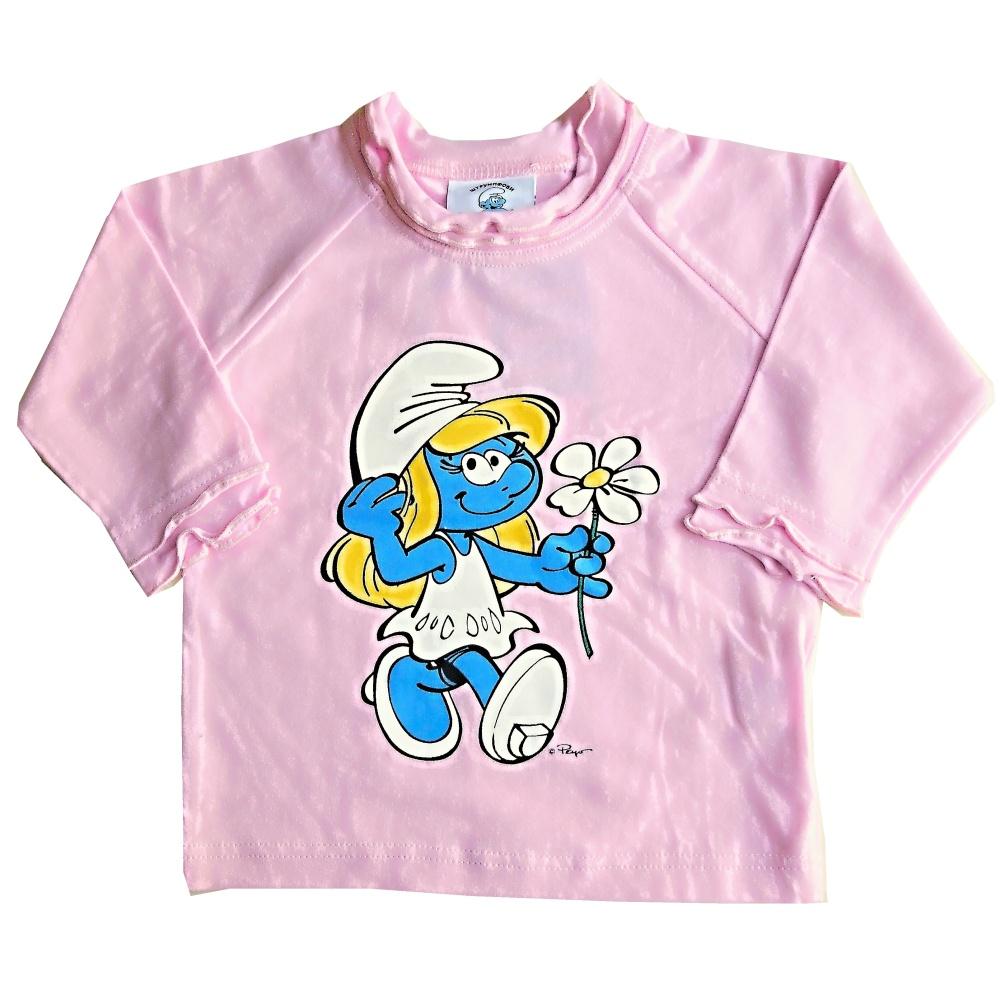Dětské dívčí tričko dlouhý rukáv Setino Šmoulinka růžové, vel. 74 74