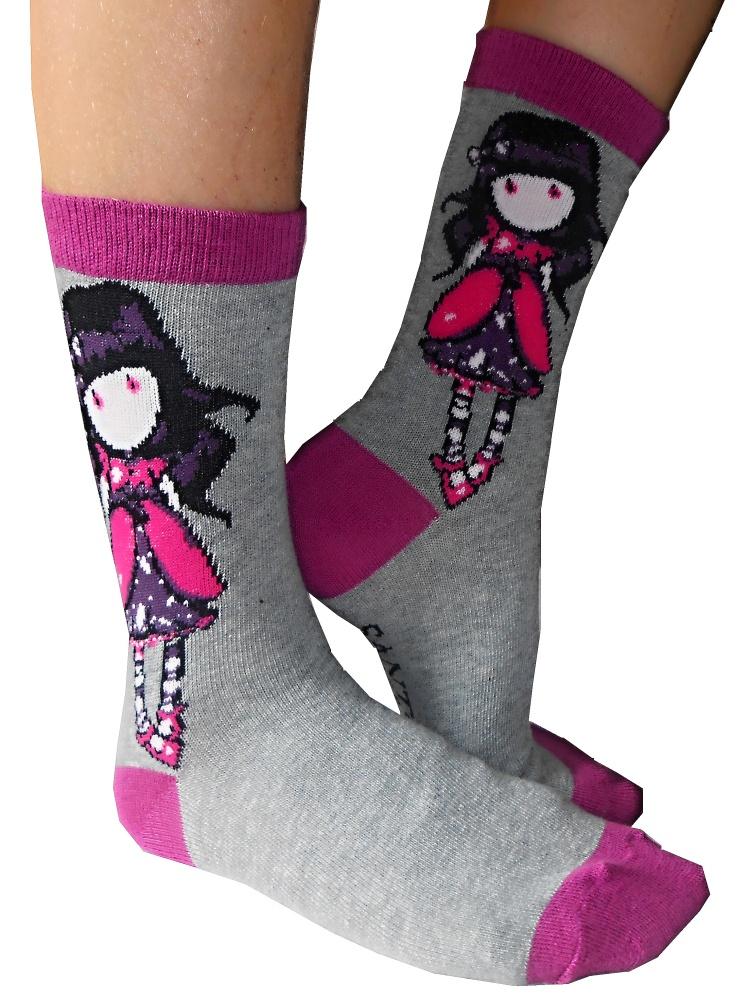 Dětské dívčí ponožky Setino 881-220 Santoro London Gorjuss šedé 27-30