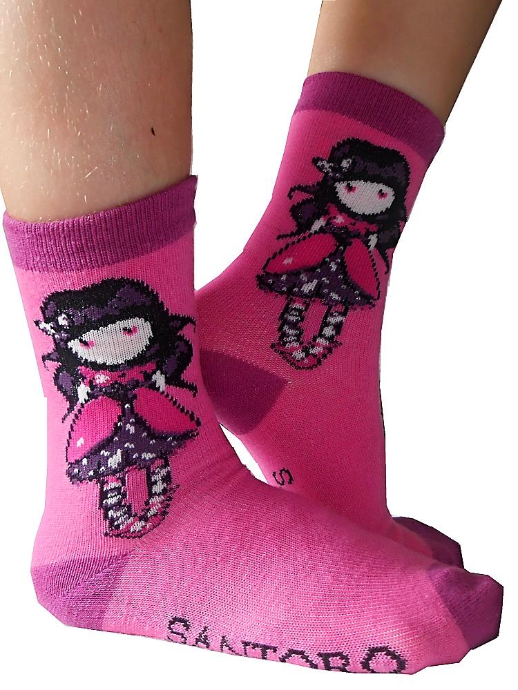 Dětské dívčí ponožky Setino 881-220 Santoro London Gorjuss růžové 31-34