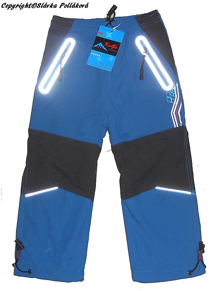 Dětské zateplené šusťákové kalhoty Kugo H206 petrolejová 110