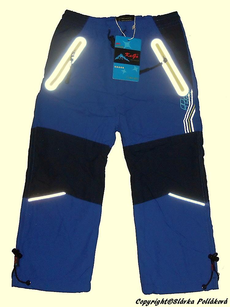 Dětské zateplené šusťákové kalhoty Kugo H206 modrá 110